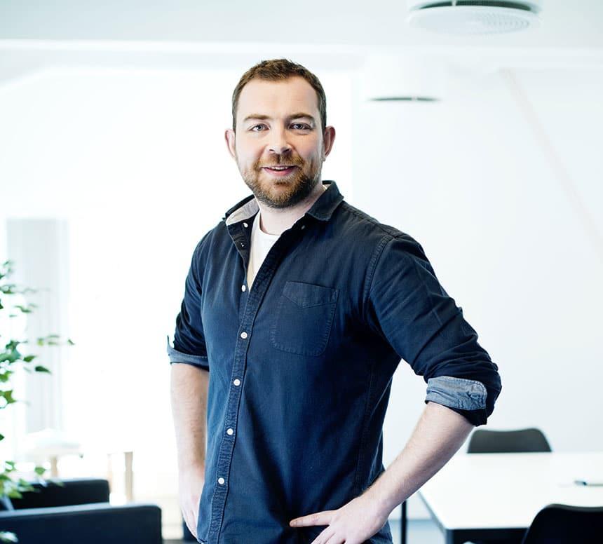 Portrettbilde Daniel Ruud i designbyrået Bly